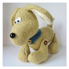Biscuit the Dog knitting pattern - Independent Designers at LoveKnitting
