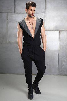Universe Onesie Bkgrey Trendy Mens Fashion, Big Men Fashion, Japan Fashion, Fashion Outfits, Fashion Shirts, Men's Fashion, Sport Casual, Men Casual, Mens Onesie