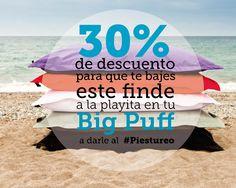 Descubre las ofertas que hemos preparado para ti! Por lo pronto este finde un poquito de #piestureo en nuestro #BigPuff   http://www.mipuf.es/big-puf-impermeable-p-314.html   #ideas #beach #relax #bigpuff