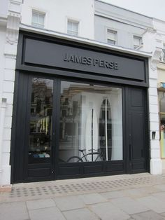 James perse a prep, 2019 shop front design, retail facade ve Shop Signage, Signage Design, Architecture Design, Facade Design, Exterior Design, Decoration Restaurant, Restaurant Design, Shop Front Design, Store Design