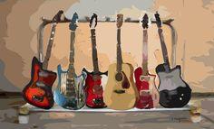 JACKSON'S ROOM- Guitars Print for Jackson's room