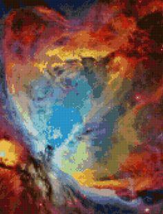 Orion Nebula NGC 1976 Hubble Telescope Cross Stitch pattern PDF - Instant Download! by PenumbraCharts on Etsy