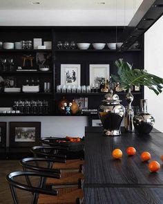 stunning black kitchens modern home interior design #dark #kitchen