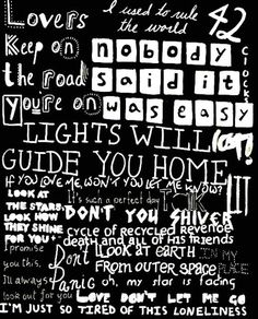 Coldplay OMG!!!!!! Need this!! i want this on my wall!!