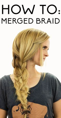 Step by step tutorial on how to merged braid hair. http://blog.hairandmakeupbysteph.com/2014/08/merged-braids.html