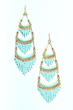 Beaded chandelier earrings | uoionline.com: Women's Clothing Boutique