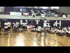 DeMarcus Cousins 1-on-1 with a camper at 2015 DMC Elite Skills Basketbal...