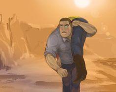 Till the last breath by on deviantART - Toy Story human AU Disney Toys, Disney Cartoons, Disney Pixar, Disney Fan Art, Woody And Buzz Toys, Jessie And Buzz, Anime Vs Cartoon, Toy Story Movie, Toy Story Buzz Lightyear