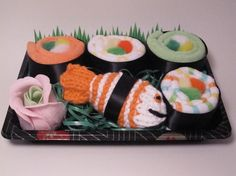 Bought this for a friend. ♥                                Baby Washcloth Sushi Set - Unique Gift