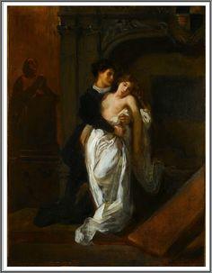 Roméo et Juliette Devant le Tombeau des Capulets ~ Eugène Delacroix ~ (French…