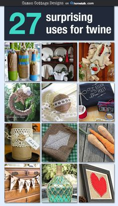 I gotta break out all my twine for these awesome projects! Definitely doing some of these this weekend!