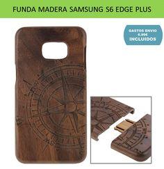 Fundas y carcasas para moviles Samsung Galaxy S6 Edge Plus de madera natural de cerezo.