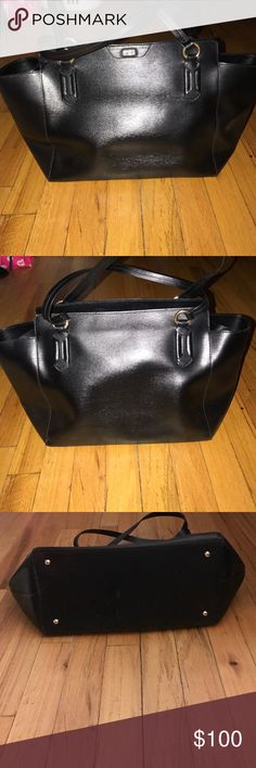 Black Ralph Lauren saffino tote Barely used. Great condition. Classic looking tote. Ralph Lauren Bags Totes