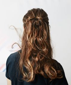 Men With Long Hair In Updos, Female Hairstyles | Here's what happens when we put spring's prettiest hairstyles on guys. #refinery29 http://www.refinery29.com/men-updo-hairstyles