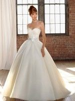 Ball-Gown Scoop Neck Sweep Train Organza Tulle Lace Wedding Dress With Beading Sequins Size 12 Wedding Dress – OnceWed.com