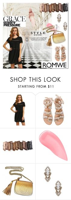 """""""romwe lbd mar01"""" by sabrina-fatma-ahmad ❤ liked on Polyvore featuring Oxford, Elina Linardaki, Urban Decay, Kevyn Aucoin, Gucci, Sparkling Sage and Maybelline"""