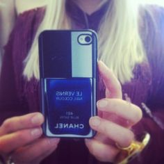 Chanel polish case  http://www.glamzelle.com/collections/accessories-iphone/products/chanel-nail-polish-iphone-case-fracas-571