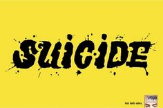 Right To Die - Suicide poster, amazing use of the counter spaces