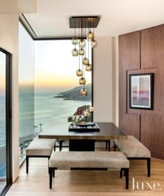 A hillside Pacific Palisades home's corner #diningroom. | See MORE at www.luxesource.com. | #luxemag #interiordesign #design #interiors #homedecor