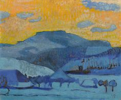 Cuno Amiet - Oschwand, 1924, oil on canvas