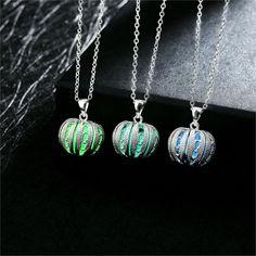 Cinderella's Pumpkin Coach Chariot Inspired Glow in Dark Necklace Pendant Jewel