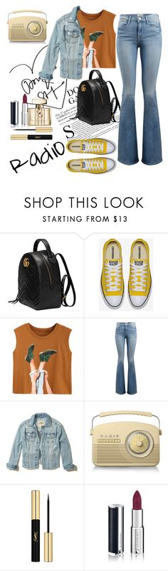 """""""Untitled #21"""" by tatuli-togoxia ❤ liked on Polyvore featuring Gucci, Frame, Hollister Co., Yves Saint Laurent and Givenchy"""
