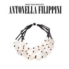 Antonella Filippini. #antonellafilippini #necklace #pearls #blackandwhite #jewellery #jewelry #dolcitrame #dolcitrameshop #shoponline