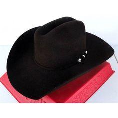 df863ac105aaa Stetson Cowboy Hat 4X Beaver Fur Felt Chocolate West Bend