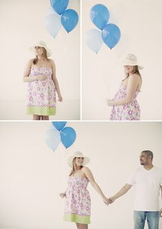 Indoor Balloons w/ baby color