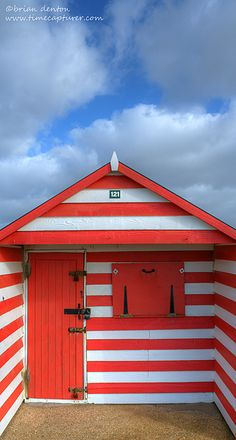 ~ a lovingly cared for Beach Hut sitting in the sun on West Wittering beach in West Sussex ~ England ~ West Wittering, Beach Huts, Amazing Places, The Good Place, United Kingdom, Bathing, Coastal, Boxes, British
