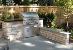 Outdoor grill station