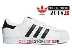 brand new 78bb6 00e30 Adidas Homme Chaussure Originals Superstar Prix Pas Cher Blanc Noir  C77124-C77124-Adidas Superstar