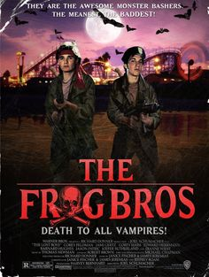The frog bros(the lost boys) Lost Boys Movie, The Lost Boys 1987, I Movie, Scream Movie, 80s Movies, Scary Movies, Great Movies, Real Vampires, Vampires And Werewolves