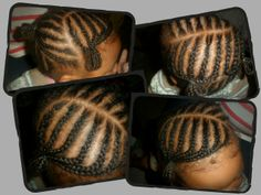 braided sections into buns