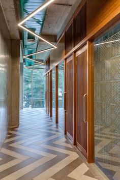 Gallery of INVESTRIBE Office Building / Living Edge Architects and Designers (LEAD) - 9 Investment Firms, Rustic Theme, Showcase Design, Light Decorations, Second Floor, Solar Panels, Facade, Entrance, Minimalism