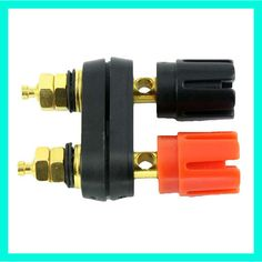 5pcs Banana Plug Connector Banana Audio Socket For Speaker Amplifier Red and Black Double Joint Terminal Block Gold Plated