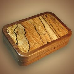 Walnut Fly Box with Spalted Maple Inlay