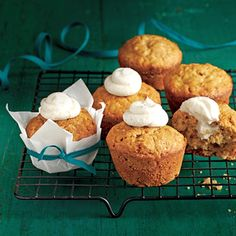 Banana-Nut Muffins |  MyRecipes.com This batter can also be baked as 2 (8- x 4-inch) loaves. (You'll need to increase the bake time to about 1 hour.) Spread the Cream Cheese-Honey Filling on the warm bread, or use as a topping for French toast.