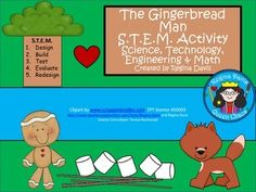 S.T.E.M. activities may seem daunting when teaching young children. This is a S.T.E.M. activity that I created to go with the folk tale, The Gingerbread Man. I like to include literature, reading, and writing into my STEM activity so that I can incorporate it into my reading block if needed.