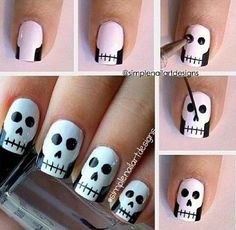Skull nail tutorial