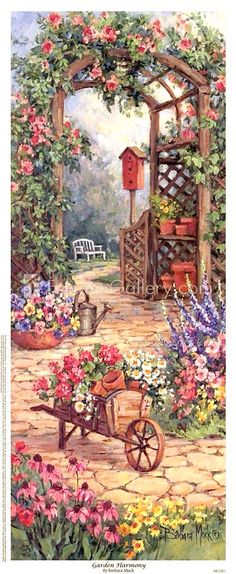 "A Garden Awaits! ~ ""Garden Harmony"" By Barbara Mock."