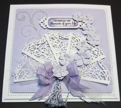 The Moments Of Your Life by Sue Wilson - what a beautiful card for a special birthday