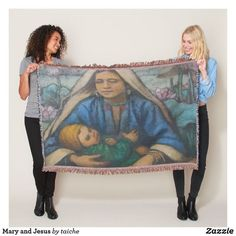 #Mary #Jesus #Artistic #ThrowBlanket #customgifts #ATSocialMediaUK #baby #virginmary #newborn #christmas #saintmary #mother #christian #nativity