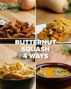 Butternut Squash 4 Ways by Tasty