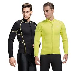 Men's 3mm warm cold wet suit snorkeling wear Neoprene winter surf swimsuit , Yellow , xxl -- Awesome products selected by Anna Churchill