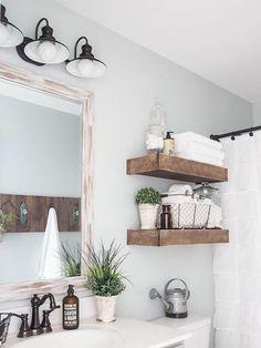 Cómo decorar estanterías de baño