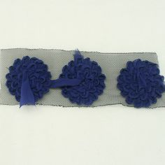Cobalt blue Flower Chiffon Lace for Women baby Girls by annielov, $8.00