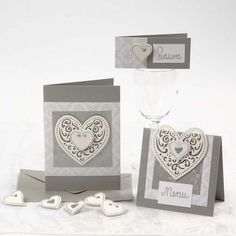 Romanttinen sydänkortti Romantic Cards, Skagen, Place Cards, Fest, Place Card Holders, Diy, Decor, Ideas, Decoration