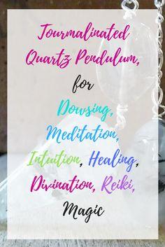 Tourmalinated Quart Pendulum. So Beautiful