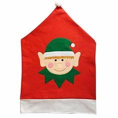 Zonegear Elf Santa Hat Chair Back Cover New Style Christmas